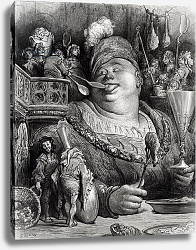 Постер Доре Гюстав Pantagruel's meal, from 'Pantagruel' by Francois Rabelais engraved by Paul Jonnard-Pacel