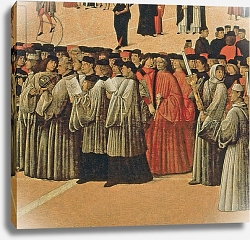Постер Беллини Джованни Procession in St. Mark's Square, detail of singers, 1496