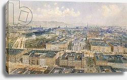 Постер Альт Рудольф Panorama of Vienna, 1871