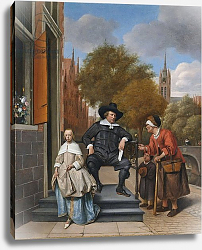 Постер Стен Ян The Burgher of Delft and his Daughter, 1655