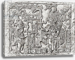 Постер Школа: Испанская 19в. Decorative Lintel from the ancient Mayan city of Yaxchilan, Chiapas, Mexico