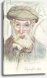 Постер Денис Морис Portrait of Pierre Auguste Renoir at Cagnes, 1913