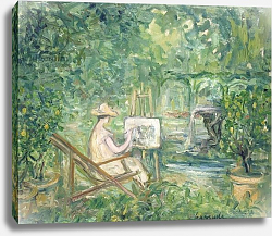 Постер Лапрад Пьер Woman Painting in a Landscape, 1900-10