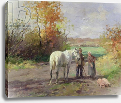 Постер Херст Томас Encounter on the Way to the Field, 1897