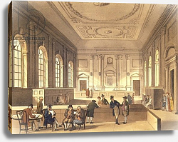 Постер Роуландсон Томас Dividend Hall at South Sea House, pub. by R. Ackermann, 1810
