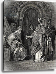 Постер Уоррен Генри (грав) Henry II presenting the Pope's Bull to the Archbishop of Cashel, engraved by G. Greatbach