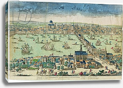 Постер 'London, Capital City of the Kingdom of England', French, c.1700