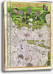 Постер Тестю Гульем (карты) Fol.47v Map of Peru, from 'Cosmographie Universelle', 1555