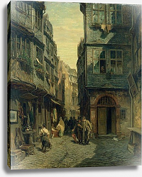 Постер Бургер Антон The Jewish Quarter in Frankfurt, 1883
