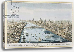 Постер Боулз Томас A General View of the City of London and the River Thames, plate 2 from 'Views of London' 1794