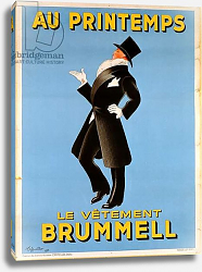 Постер Капиелло Леонетто Poster advertising 'Brummel' clothing for men at 'Printemps' department store, 1936