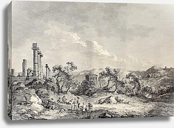 Постер Valley of the Temples, Sicily. Created by Chatelet and Allix, Imprimerie de Clousier, Paris, 1786
