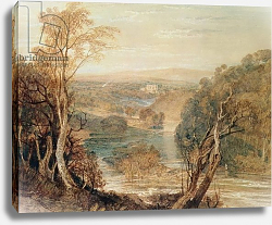 Постер Тернер Уильям (William Turner) The River Wharfe with a distant view of Barden Tower