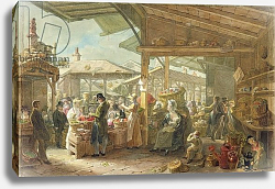 Постер Шарф Джордж (грав) Old Covent Garden Market, 1825