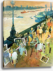 Постер Адамсон Джордж (совр) Thames Embankment, front cover of 'Undercover' magazine, published December 1985