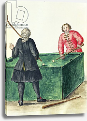 Постер Гревенброк Ян Two Venetian Noblemen Playing Billiards