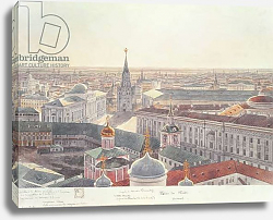 Постер Гадоле (Москва) Panorama of Moscow, depicting the former Senate Palace, Wosnesenskoy Monastery and the former Arsenal, 1819