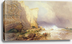 Постер Могфорд Джон Stormy Weather, Clearing Seaton Cliffs, South Devon, 19th century