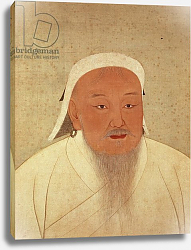 Постер Школа: Китайская Portrait of Genghis Khan, Mongol Khan, founder of the Imperial Dynasty