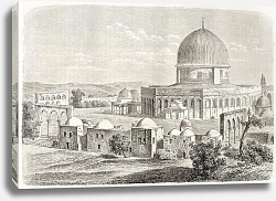 Постер Al-Aqsa Mosquee, Jerusalem. Created by Lancelot, published on Le Tour du Monde, Paris, 1860
