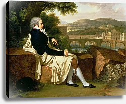 Постер Фабре Франсис Allen Smith seated Above the River Arno, contemplating Florence, 1797