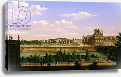 Постер Бау Этьен View of the Gardens and Palace of the Tuileries from the Quai d'Orsay, 1813