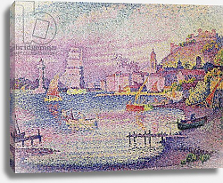 Постер Синьяк Поль (Paul Signac) Leaving the Port of Saint-Tropez, 1902