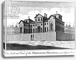 Постер Кинг Хайнц The South East View of the Middlesex Hospital, 1745