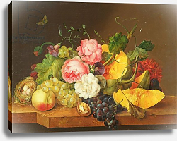 Постер Петтер Франс Still life with Flowers and Fruit, 1821