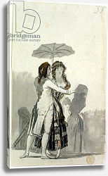 Постер Гойя Франсиско (Francisco de Goya) Couple with a Parasol