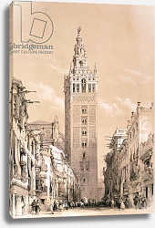 Постер Робертс Давид The Giralda, Seville, from 'Picturesque Sketches in Spain', c.1832-33