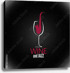 Постер Wine and Jazz