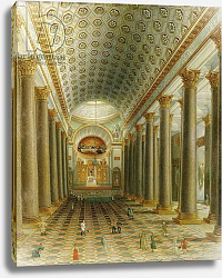 Постер Школа: Русская 19в. Interior view of the Kazan Cathedral in St. Petersburg