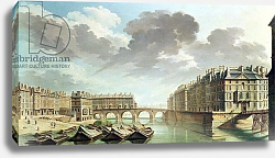 Постер Рагуне Николя The Ile Saint-Louis and the Pont Marie in 1757