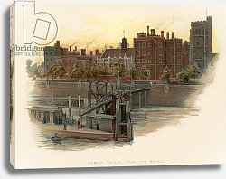 Постер Уилкинсон Чарльз Lambeth Palace, from the bridge