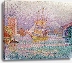 Постер Синьяк Поль (Paul Signac) Harbour at Marseilles, c.1906