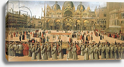 Постер Беллини Джованни Procession in St. Mark's Square, 1496
