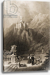 Постер Робертс Давид Thurnburg Castle, engraved by J.T. Willmore, illustration from 'The Pilgrims of the Rhine' 1840