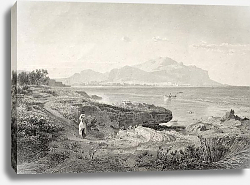 Постер Palermo gulf. Original illustration was created by A. Achenbach and J. Richter and published in Trie