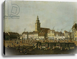 Постер Фешхельм Карл Ф. View of the Neue Markt with St. Mary's Church, Berlin, c.1770