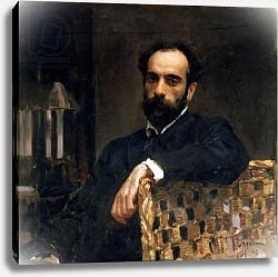Постер Серов Валентин Portrait of the artist Isaak Ilyich Levitan, 1893