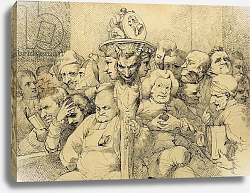 Постер Мортимер Джон Literary Characters Assembled Around the Medallion of Shakespeare, 1776