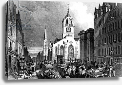 Постер Шепард Томас (последователи) St. Gile's Church, County Hall and the Lawn Market, Edinburgh, engraved by William Tombleson, c.1830