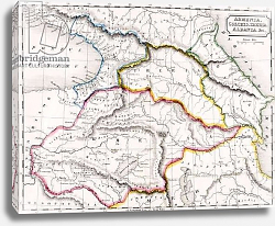 Постер Школа: Английская 19в. Map of Armenia, Colchis, Iberia and Albania, from 'The Atlas of Ancient Geography', c.1829