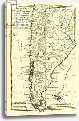 Постер Бонне Чарльз (карты) Chile, from the south of Peru to Cape Horn, 1780