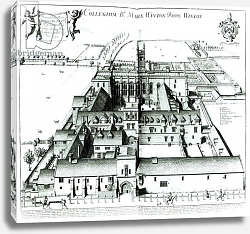 Постер Логган .Давид Winchester College, from a collection of topographical illustrations 'Oxonia Illustrata' 1675