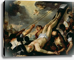 Постер Джордано Лука The Crucifixion of Saint Peter, c.1660