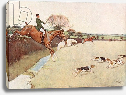 Постер Алдин Сесил The Dogs came Dashing across the Field . . . the Horses following close upon the Dogs