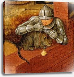 Постер Брейгель Питер Старший Knight putting a bell on a cat, detail from 'The Flemish Proverbs'