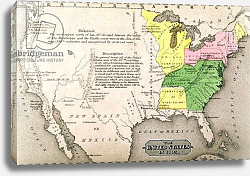 Постер Неизвестен Map of the United States in 1803, by John Warner Barber and Henry Hare, 1861